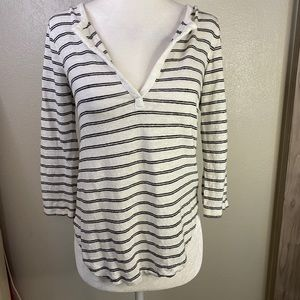 Athleta Striped black and white extra small top